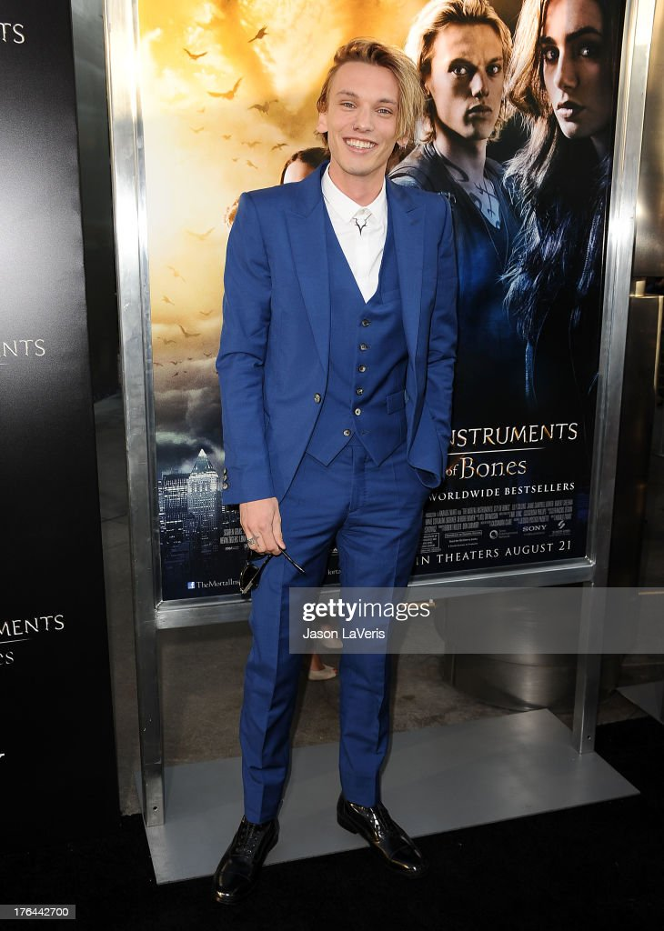 Actor Jamie Campbell Bower attends the premiere of 'The Mortal Instruments: City Of Bones' at ArcLight Cinemas Cinerama Dome on August 12, 2013 in Hollywood, California.