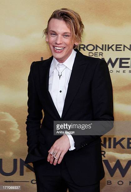 Actor Jamie Campbell Bower attends the 'The Mortal Instruments City of Bones' Germany premiere at Sony Centre on August 20 2013 in Berlin Germany