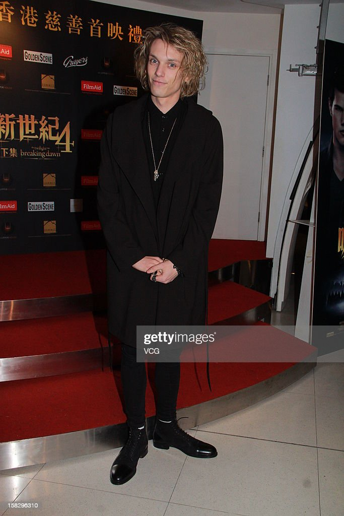 Actor Jamie Campbell Bower attends the 'Twilight Saga: Breaking Dawn Part 2' premiere at the Grand Cinema on December 12, 2012 in Hong Kong, Hong Kong.
