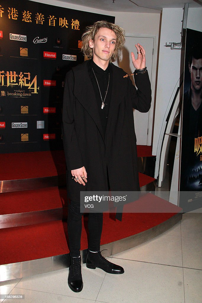 Actor <a gi-track='captionPersonalityLinkClicked' href=/galleries/search?phrase=Jamie+Campbell+Bower&family=editorial&specificpeople=4586724 ng-click='$event.stopPropagation()'>Jamie Campbell Bower</a> attends the 'Twilight Saga: Breaking Dawn Part 2' premiere at the Grand Cinema on December 12, 2012 in Hong Kong, Hong Kong.
