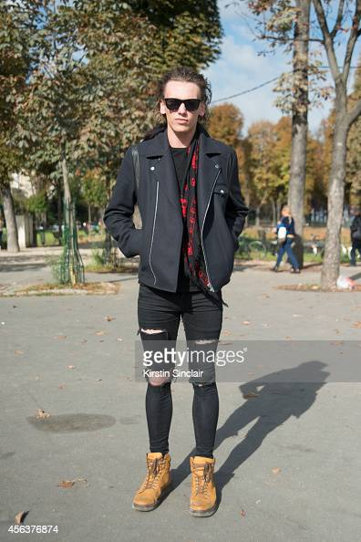 Actor Jamie Campbell Bower on day 3 of Paris Collections Women on September 25 2014 in Paris France