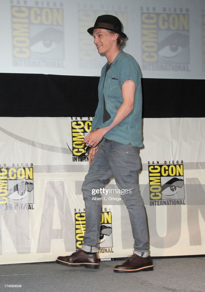 Actor Jamie Campbell Bower onstage at the Sony and Screen Gems panel during Comic-Con International 2013 at San Diego Convention Center on July 19, 2013 in San Diego, California.