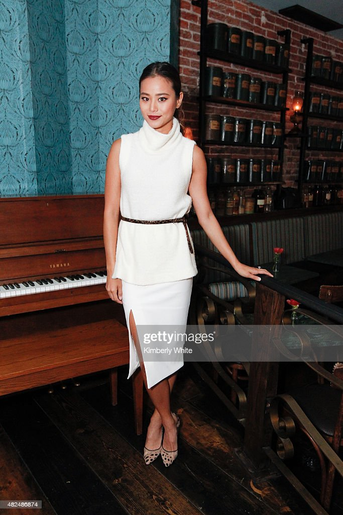 Actor Jamie Chung poses for a photograph at the Clinique for Men Celebrates Debut of Sonic System Deep Cleansing Brush and Choarcoal Face Wash at The...