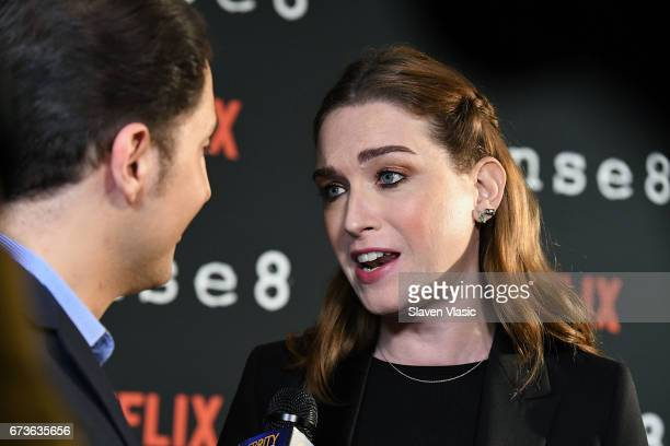 Actor Jamie Clayton attends 'Sense8' New York Premiere at AMC Lincoln Square Theater on April 26 2017 in New York City
