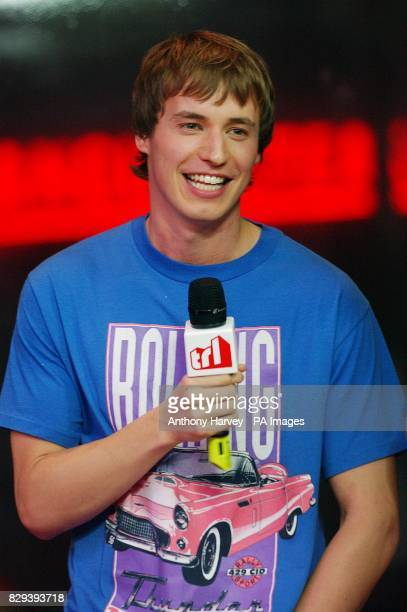 Actor Jamie Davies from TV show Hex during his guest appearance on MTV's TRL Total Request Live show at their new studios in Leicester Square central...