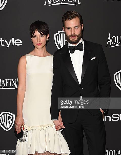 Actor Jamie Dornan and his wife Amelia Warner attends the 2015 InStyle And Warner Bros 72nd Annual Golden Globe Awards PostParty at The Beverly...