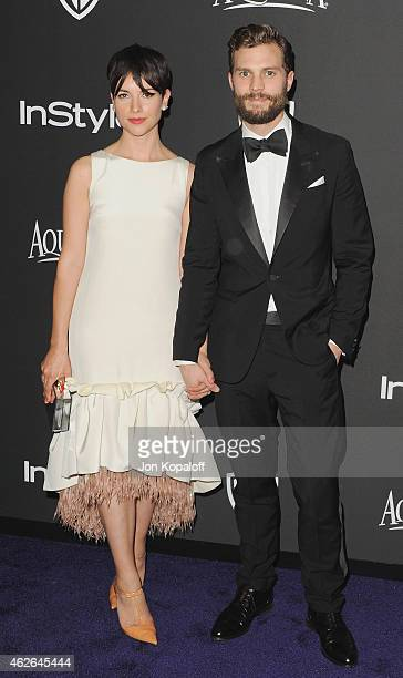 Actor Jamie Dornan and wife Amelia Warner arrive at the 16th Annual Warner Bros And InStyle PostGolden Globe Party at The Beverly Hilton Hotel on...
