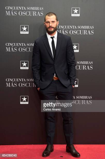Actor Jamie Dornan attends 'Fifty Shades Darker' premiere at the Kinepolis cinema on February 8 2017 in Madrid Spain