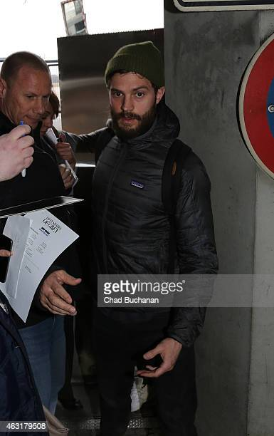 Actor Jamie Dornan sighted arrivng at Tegel Airport on February 11 2015 in Berlin Germany