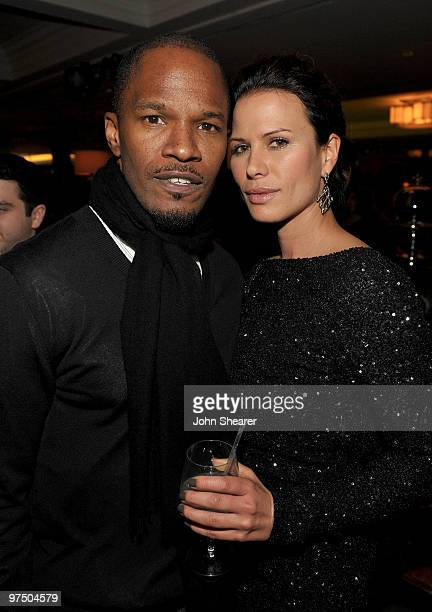 Actor Jamie Foxx and actress Rhona Mitra attend the Montblanc Charity Cocktail hosted by The Weinstein Company to benefit UNICEF held at Soho House...