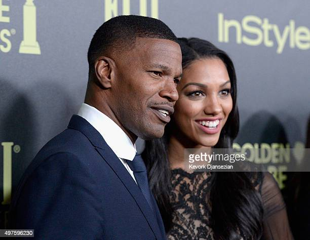 Actor Jamie Foxx and Miss Golden Globe Corinne Foxx attend Hollywood Foreign Press Association and InStyle Celebration of The 2016 Golden Globe Award...