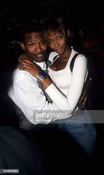 Actor Jamie Foxx and model Beverly Peele attend the party for Jamie Foxx Theater Show on May 15 1994 at the Beacon Theater in New York City