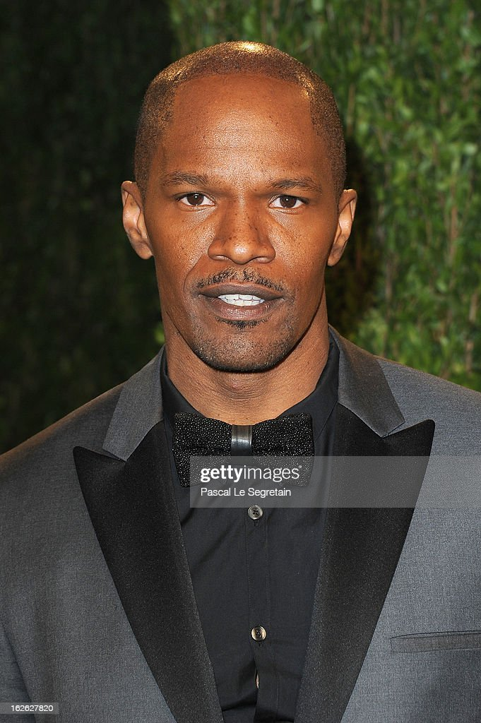 Actor Jamie Foxx arrives at the 2013 Vanity Fair Oscar Party hosted by Graydon Carter at Sunset Tower on February 24, 2013 in West Hollywood, California.