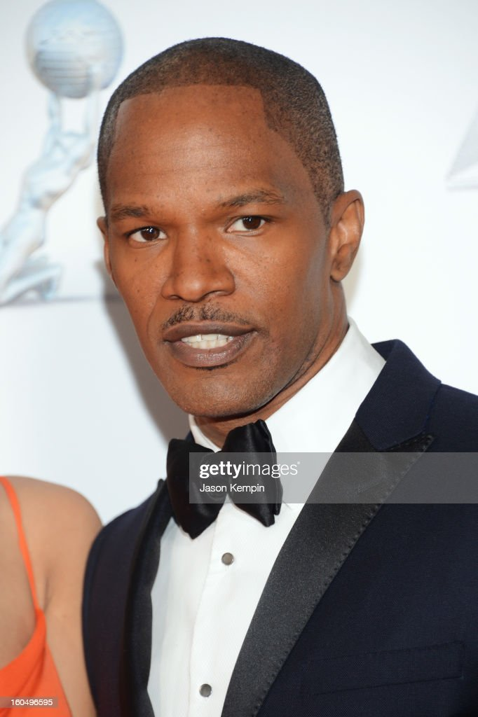 Actor <a gi-track='captionPersonalityLinkClicked' href=/galleries/search?phrase=Jamie+Foxx&family=editorial&specificpeople=201715 ng-click='$event.stopPropagation()'>Jamie Foxx</a> arrives at the 44th NAACP Image Awards held at The Shrine Auditorium on February 1, 2013 in Los Angeles, California.