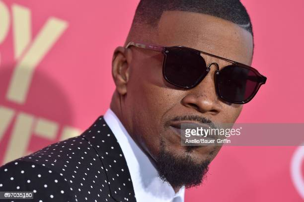 Actor Jamie Foxx arrives at the premiere of 'Baby Driver' at Ace Hotel on June 14 2017 in Los Angeles California