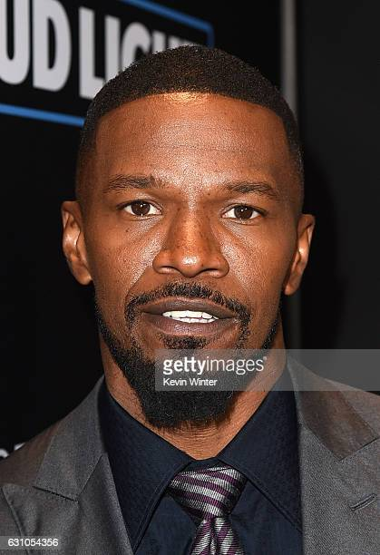 Actor Jamie Foxx arrives at the premiere of Open Road Films' 'Sleepless' at the Regal LA Live Stadium 14 Theatre on January 5 2017 in Los Angeles...