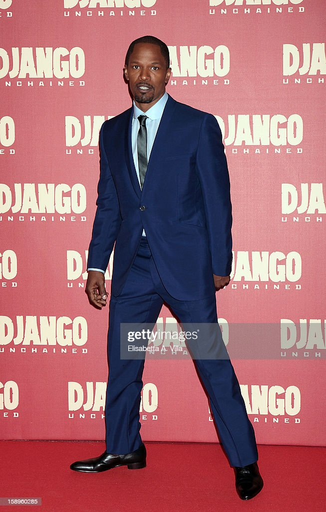 Actor Jamie Foxx attends 'Django Unchained' premiere at Cinema Adriano on January 4, 2013 in Rome, Italy.