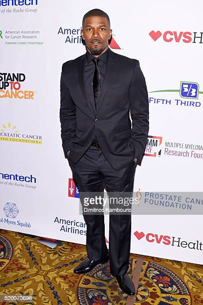 Actor Jamie Foxx attends Stand Up To Cancer's New York Standing Room Only presented by Entertainment Industry Foundation with donors American...