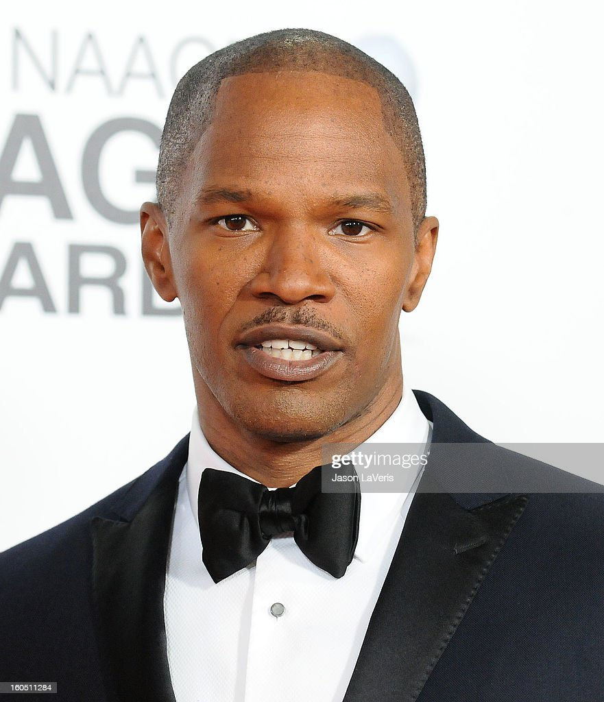 Actor <a gi-track='captionPersonalityLinkClicked' href=/galleries/search?phrase=Jamie+Foxx&family=editorial&specificpeople=201715 ng-click='$event.stopPropagation()'>Jamie Foxx</a> attends the 44th NAACP Image Awards at The Shrine Auditorium on February 1, 2013 in Los Angeles, California.