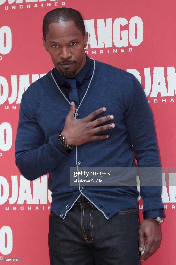 Actor Jamie Foxx attends the 'Django Unchained' photocall at the Hassler Hotel on January 4, 2013 in Rome, Italy.