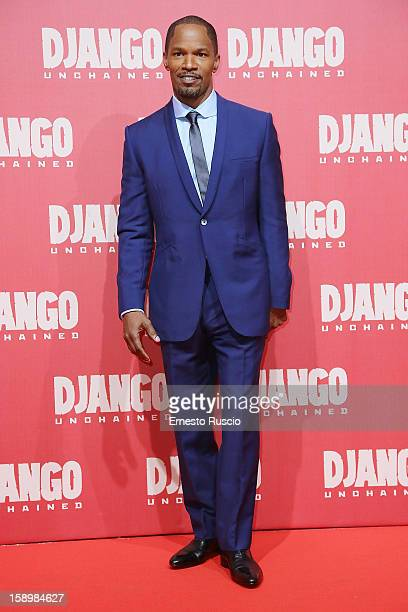 Actor Jamie Foxx attends the 'Django Unchained' premiere at Cinema Adriano on January 4 2013 in Rome Italy