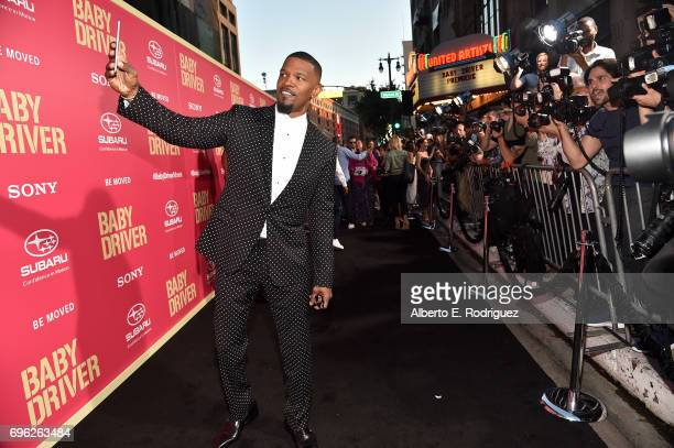 Actor Jamie Foxx attends the premiere of Sony Pictures' 'Baby Driver' at Ace Hotel on June 14 2017 in Los Angeles California