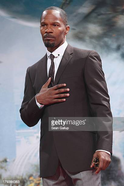 Actor Jamie Foxx attends the 'White House Down' Germany premiere at CineStar on September 2 2013 in Berlin Germany
