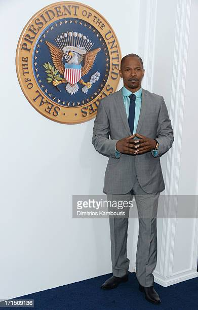 Actor Jamie Foxx attends the 'White House Down' New York premiere at Ziegfeld Theater on June 25 2013 in New York City
