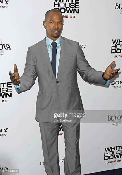 Actor Jamie Foxx attends 'White House Down' New York Premiere at Ziegfeld Theater on June 25 2013 in New York City