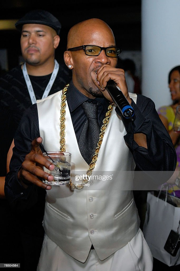Actor Jamie Foxx celebrates his 40th birthday hosted by Belvedere Vodka at The Florida Room located within The Delano Hotel on December 15 2007 in...
