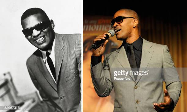 In this composite image a comparison has been made between Ray Charles and Actor Jamie Foxx Oscar hype begins this week with the announcement of the...