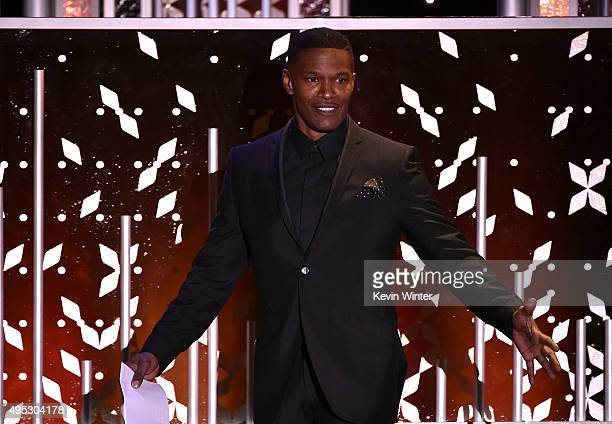 Actor Jamie Foxx walks onstage during the 19th Annual Hollywood Film Awards at The Beverly Hilton Hotel on November 1 2015 in Beverly Hills California