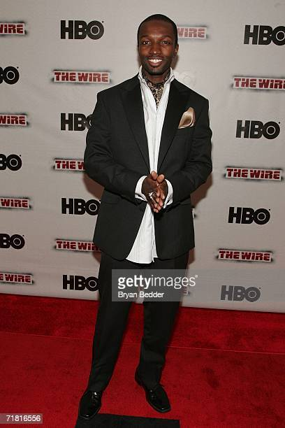 Actor Jamie Hector arrives at the premiere of HBO's 'The Wire' on September 7 2006 in New York City