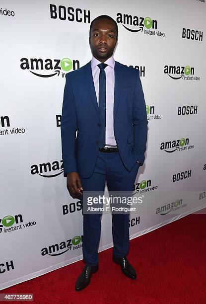 Actor Jamie Hector arrives for the red carpet premiere screening for Amazon's first original drama series 'Bosch' at The Dome at Arclight Hollywood...