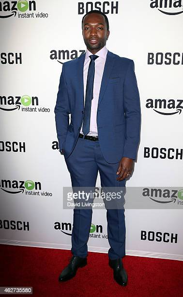 Actor Jamie Hector attends a screening of Amazon's 1st original drama series 'Bosch' at The Dome at Arclight Hollywood on February 3 2015 in...