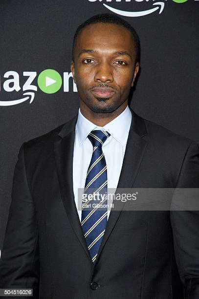 Actor Jamie Hector attends Amazon Studios Golden Globes Party at The Beverly Hilton Hotel on January 10 2016 in Beverly Hills California