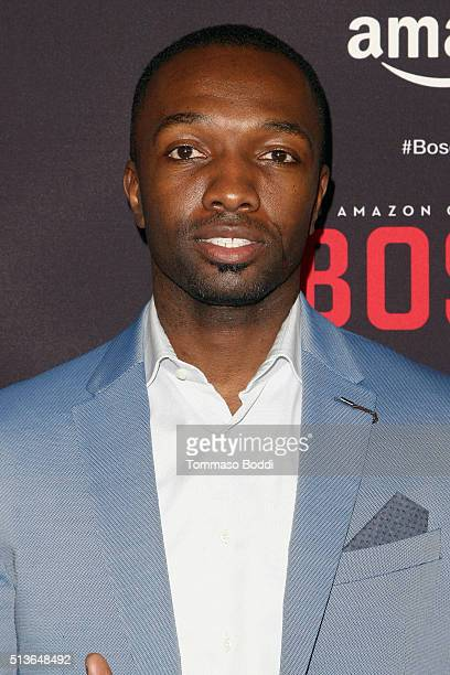 Actor Jamie Hector attends the Premiere Of Amazon's 'Bosch' Season 2 held at the SilverScreen Theater at the Pacific Design Center on March 3 2016 in...
