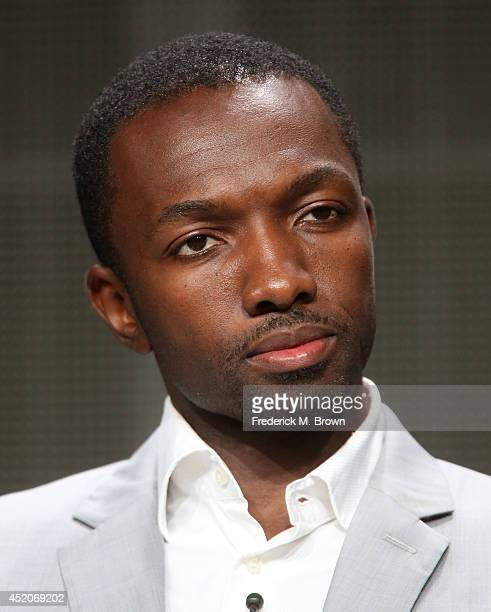 Actor Jamie Hector speaks onstage at the 'Bosch' panel during the Amazon Prime Instant Video portion of the 2014 Summer Television Critics...