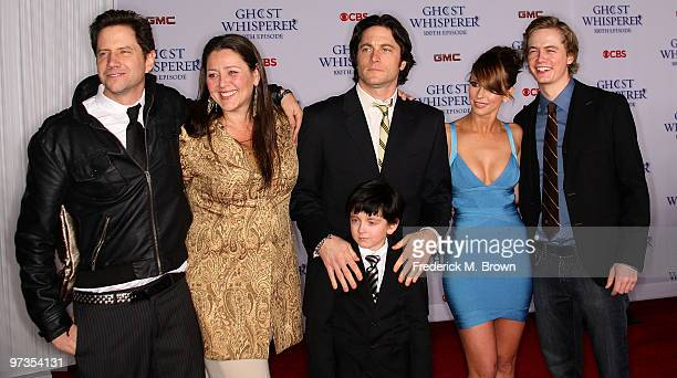 Actor Jamie Kennedy actress Camryn Manheim actor Connor Gibbs actor David Conrad actress Jennifer Love Hewitt and Christoph Sanders attend the 'Ghost...
