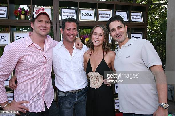 Actor Jamie Kennedy Gavin Keilly actress Jennifer Love Hewitt and Scott Bronson attend Day 2 of GBK's 2009 Emmy Gift Lounge on September 19 2009 in...