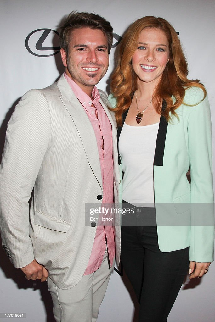 Actor Jamie Thomas King and actress Rachelle Lefevre attends LEXUS Live on Grand hosted by Curtis Stone at the third annual Los Angeles Food & Wine Festival on August 24, 2013 in Los Angeles, California.