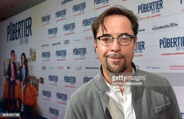 Actor Jan Josef Liefers during the ''Das Pubertier'' premiere at Mathaeser Filmpalast on July 4 2017 in Munich Germany