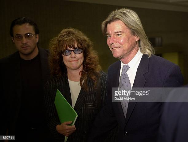 Actor Jan MichaelVincent arrives at court September 21 2000 with his new wife of three months and friend of 17 years Anna in Laguna Niguel CA for...