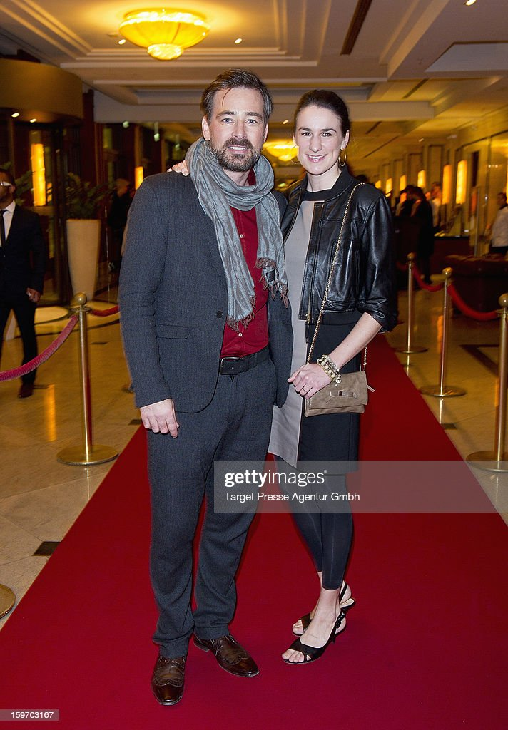 Actor Jan Sosniok and partner Nadine Moellers attends the Fitness First New You Achievement Awardsat the Maritim Hotel on January 18, 2013 in Berlin, Germany.
