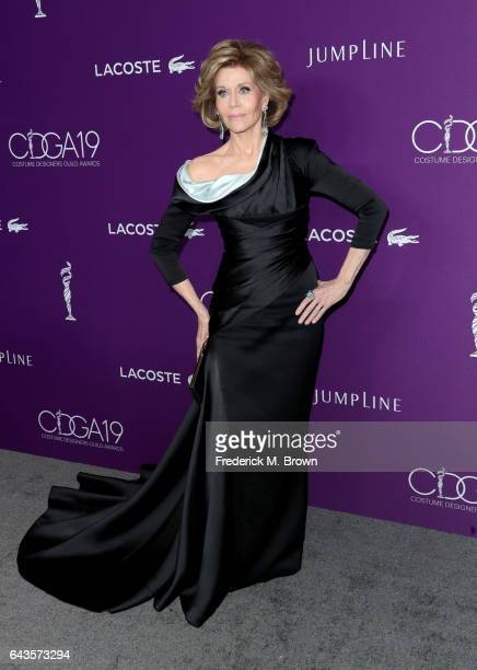 Actor Jane Fonda attends The 19th CDGA with Presenting Sponsor LACOSTE at The Beverly Hilton Hotel on February 21 2017 in Beverly Hills California