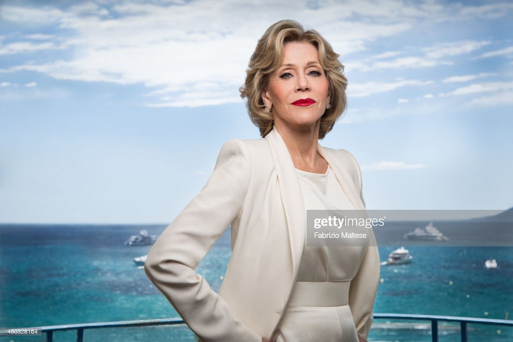 Actor <a gi-track='captionPersonalityLinkClicked' href=/galleries/search?phrase=Jane+Fonda&family=editorial&specificpeople=202174 ng-click='$event.stopPropagation()'>Jane Fonda</a> is photographed for the Hollywood Reporter in Cannes, France.