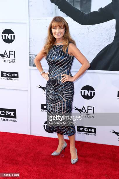 Actor Jane Seymour arrives at American Film Institute's 45th Life Achievement Award Gala Tribute to Diane Keaton at Dolby Theatre on June 8 2017 in...
