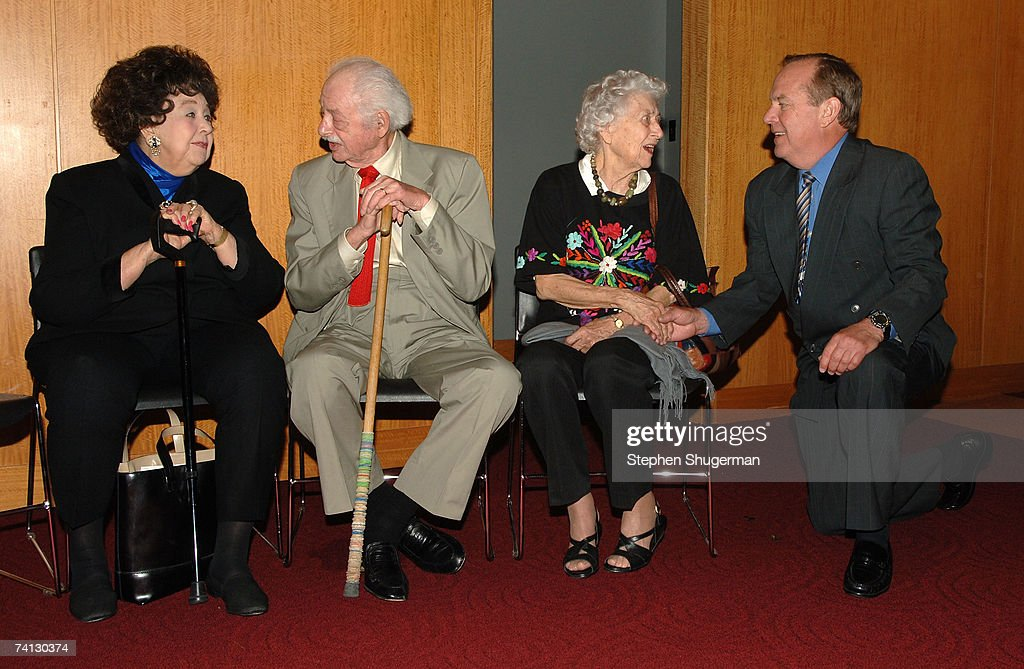 Actor Jane Withers, producer Hal Kanter, actor Jean Rouverol Butler and grandchild of W.C. Fields Ronald Fields attend a celebration of comedic icon W. C. Fields at the Academy of Motion Picture Arts and Sciences on May 11, 2007 in Beverly Hills, California.