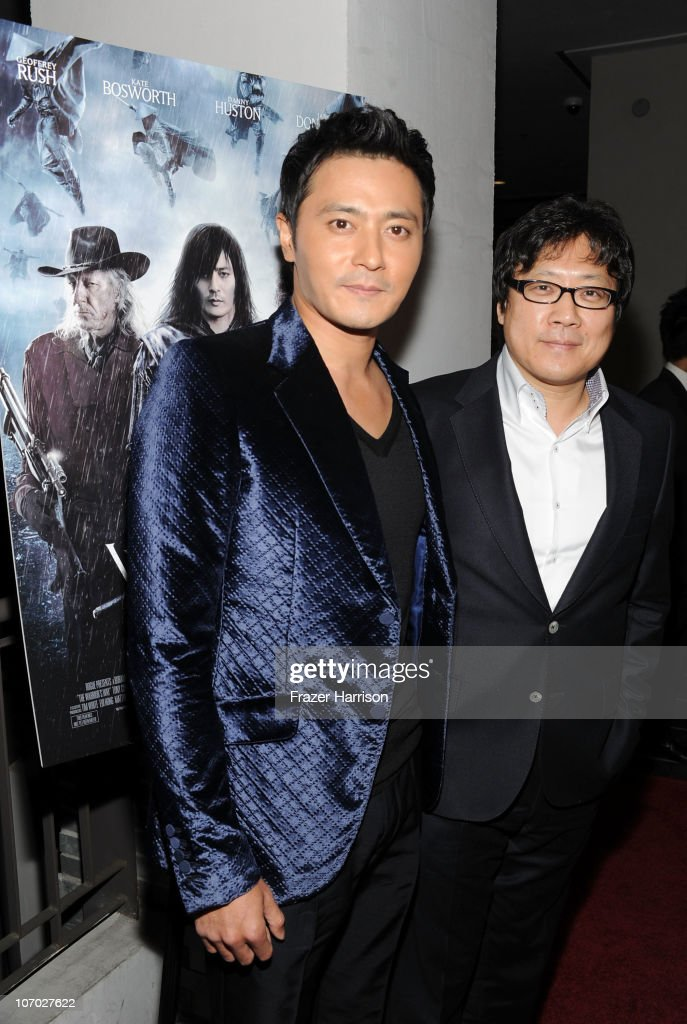 Actor <a gi-track='captionPersonalityLinkClicked' href=/galleries/search?phrase=Jang+Dong-gun&family=editorial&specificpeople=630208 ng-click='$event.stopPropagation()'>Jang Dong-gun</a> (L) and Director Sngmoo Lee arrive at 'The Warrior's Way' screening held at CGV Cinemas on November 19, 2010 in Los Angeles, California.