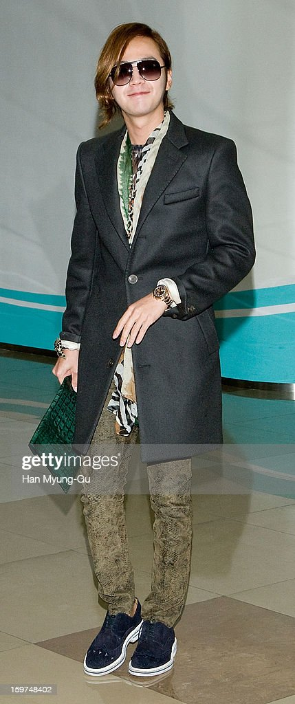 Actor Jang Keun-Suk is seen at Gimpo International Airport on January 19, 2013 in Seoul, South Korea.